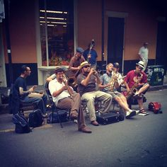 Street music in New Orleans