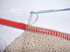 Háčkovaná síťovka: návod na háčkování - Kreativní Techniky Crochet Stitches Patterns, Stitch Patterns, Clothes Hanger, Create, Crocheting, Go To Sleep, Coat Hanger, Crochet, Clothes Hangers