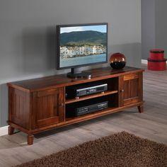 Tv lowboard manchester akazie massiv metall tv for Schrank cuba