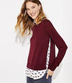 e56b711f4f Dahlia Mixed Media Shirttail Sweater - size S.