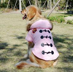Grote Grote Hond Winter Kleding Golden Retriever Windjack Hoody Padding Jas 2 colours SZ3XL-5XL  3xl