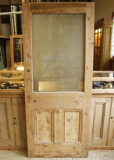 Antique Pine Edwardian Front Door - Stained Glass Doors Company