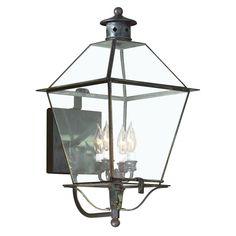 Montgomery 4-Light Charred Iron Outdoor Wall Lantern