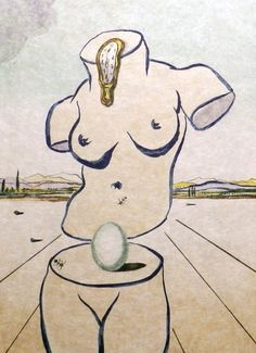 Birth of Venus 1979 by Salvador Dali - Lithograph