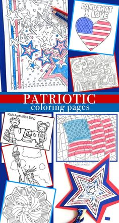 Patriotic coloring pages patriotic crafts, july crafts, summer crafts, summer fun, holiday Patriotic Crafts, July Crafts, Summer Crafts, Holiday Crafts, Holiday Fun, Crafts For Kids, Patriotic Symbols, Patriotic Party, Patriotic Decorations