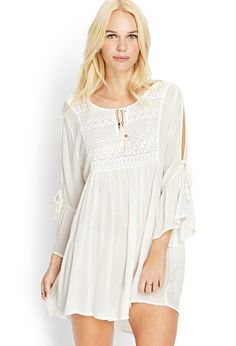 Embroidered Soft Woven Dress | FOREVER21 - 2000106665
