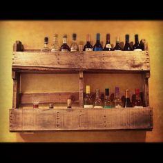 Pallet Furniture Wine Rack by 3LilBirdsWoodWorks on Etsy. One more use for pallets!!