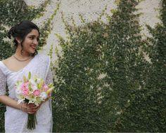 Christian Wedding Sarees, Christian Bride, Saree Wedding, Bridal Sarees, Bridal Dresses, Bridesmaid Dresses, White Saree, Bridal Collection, Looking For Women