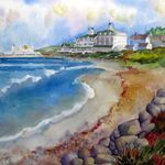 Sharon Lehman's art.  Good family friend and artist extraordinaire!  Spends 1/2 time in ATL and 1/2 on Block Island so lots of coastal pieces.