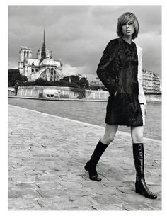 'Edie À Paris' Edie Campbell by Alasdair McLellan for Vogue Paris September 2014 [Editorial] - Fashion Copious