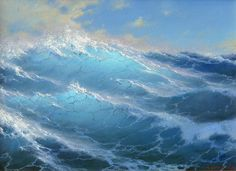 Among waves by Russian Artist George Dmitriev