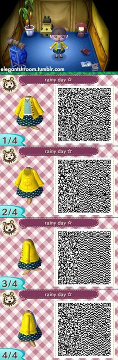 ACNL yellow cardigan and skirt