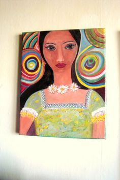 Colorful Life Original Mixed Media Painting on 95 x by AmazingPink, $120.00