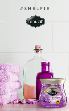 We're in lavender love with this - inspired by Renuzit Aromatherapy Pearls in Serenity! Shelf Inspiration, Oil Warmer, Small Bottles, Heating Element, Shelfie, Textured Walls, Aromatherapy, Serenity, Lavender