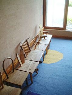Like the idea of taking plain chairs & making a bench out of them.