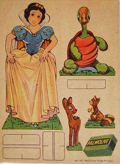 Free Vintage (Mostly) Disney Printable Paper Dolls