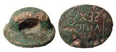 Ancient roman bronze bread stamps 1st century AC
