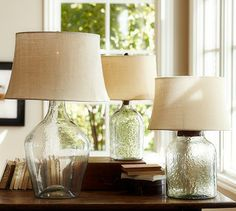 Clift Glass Table Lamp Base - Clear #potterybarn