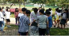 옥암동, 석현초등학교 학생들과'깨끗한 목포 만들기'앞장