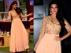 Jacqueline Fernandez' Peach Outfit Ticks All The Right Boxes For A Flying Jatt…