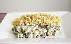 Protéines de soja aux champignons et à la sauce crème-moutarde