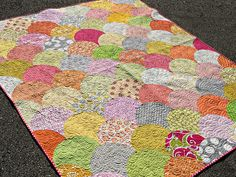 Summer Scallops by SewCraftyJess--made with accuquilt drunkards path