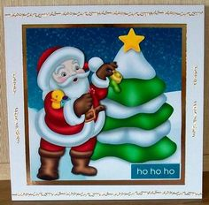 Getting Ready For Christmas on Craftsuprint designed by Chris Harland - made by Cheryl French - Printed onto glossy photo paper. Matted base image to mirror card and attached to card stock using ds tape. Built up image with 1mm foam pads. Added peel offs. - Now available for download!