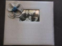Scrapbook Album Gray Teal Blue Poppy flower custom colors #scrapbook by ArtisanFeltStudio on Etsy, $34.00