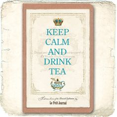 Keep Calm and Drink Tea French Note Book Moleskine by mulberrymuse, $12.00