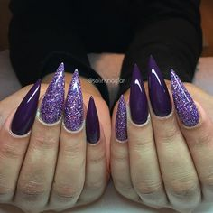 """Purple Passion"" med lila glitter (egenblandat)"