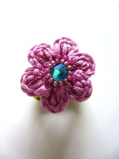○○○ Kinder-Blümchen-Ring ○○○ von crochet.jewels auf DaWanda.com
