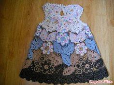 Colección de Vestidos de Bebé a Crochet recopilados de la Web ~ CTejidas [Crochet y Dos Agujas]