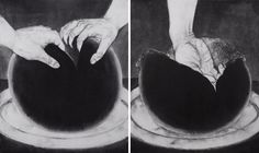 like a porno movie, 38X45cm(X2), Muk and pencil on Jangji, 2013  #art work #painting #drawing