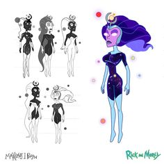 "My character design of ""Supernova"" from ""Vindicators The Return of Worldender""…I'm super proud of how the Vindicator team. Jessica Rick And Morty, The Vindicator, Alien Races, Falling In Love With Him, My Character, Drawing Reference, Cartoon Characters, Character Inspiration, Cyber"
