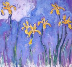 off Hand made oil painting reproduction of Yellow Irises With Pink Cloud, one of the most famous paintings by Claude Oscar Monet. Claude Oscar Monet painted Yellow Irises With Pink Cloud during the final stage of his career, starting in 1914 and . Claude Monet, Artist Monet, Iris Art, Monet Paintings, Flower Paintings, Pink Clouds, Inspiration Art, Impressionist Paintings, Oil Painting Reproductions
