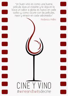 #wineandtwitsdecine  Velada de #vino y #cine