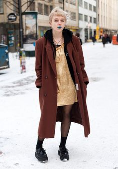 """Annica, 17  """"My style is inspired by the 90s and the early noughties. Movies like Cry Baby, Clueless and 13 inspire me, too."""" 14 January 2012, Iso Roobertinkatu"""