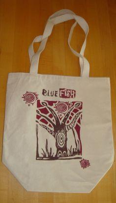 Blue Fish Tree art!