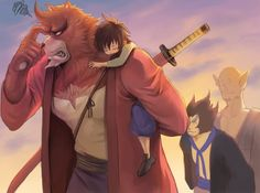 The Boy and the Beast #Kumatetsu #Kyuta #Tatara #Hyakushubo (by San)