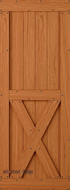 Town & Country Barn Door Kit. Mahogany; Sold Core. Style KH; Bottom-X. Tongue & Groove Construction
