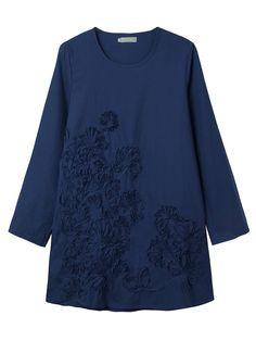 Casual Loose Embroidery Linen Women Mini Dress at Banggood