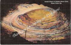 Vintage postcard of Sunset Dome in Hidden River Cave, Mammoth Cave in Kentucky