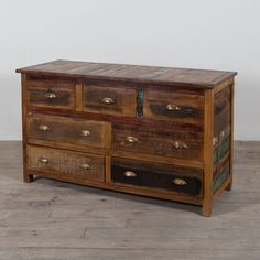 Handcrafted Reclaimed Stripped Wood 7-drawer Chest (India) | Overstock.com Shopping - Top Rated Dressers