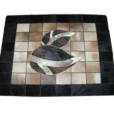 Natural Handmade Cow Leather Carpet by PtahTreasures on Etsy