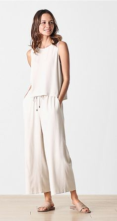 Pretty Minimalist Style for Women 25 Mode Outfits, Chic Outfits, Trendy Outfits, Fashion Outfits, Feminine Mode, Casual Chic Style, Casual Summer Outfits, Minimal Fashion, Eileen Fisher