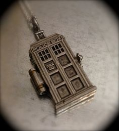 Doctor Who TARDIS Silver Tone Interpreted by urbanindustries- I NEED THIS!! Pretty sure I'm buying this right now.