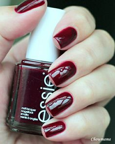 winter, dark red - Essie Bordeaux --- 3 coats, I always want this colour to be darker...