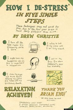 How does this sound?  Marley's' five steps to de-stress  I was thinking we could make a poster with your coping techniques and I could laminate it for you to post in your bedroom, or we could make copies for you to have in multiple places as a nice visual, think it over. See you tomorrow!
