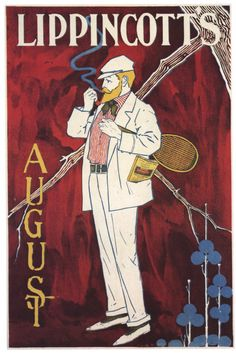 Vintage Art Nouveau Lippincott's Magazine by vintagepostercompany