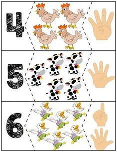 Click Clack Moo Cows That Type Number Puzzles - Kindergarden Educational Games For Kids, Fun Activities For Kids, Book Activities, Kindergarten Math Activities, Preschool Activities, Diy Quiet Books, Number Puzzles, Numbers Preschool, Yoga For Kids